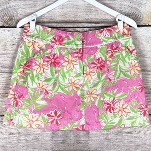 Lilly Pulitzer | Elephant Floral Skirt